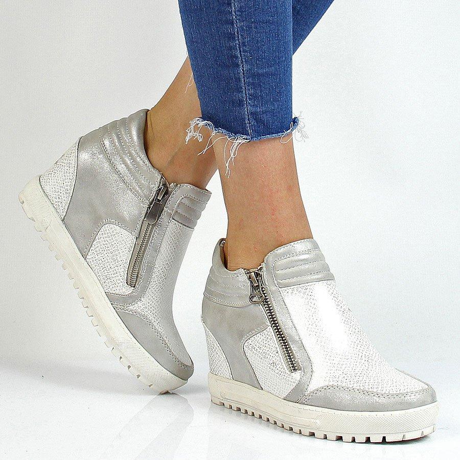 Sneakersy damskie na koturnie Wishot