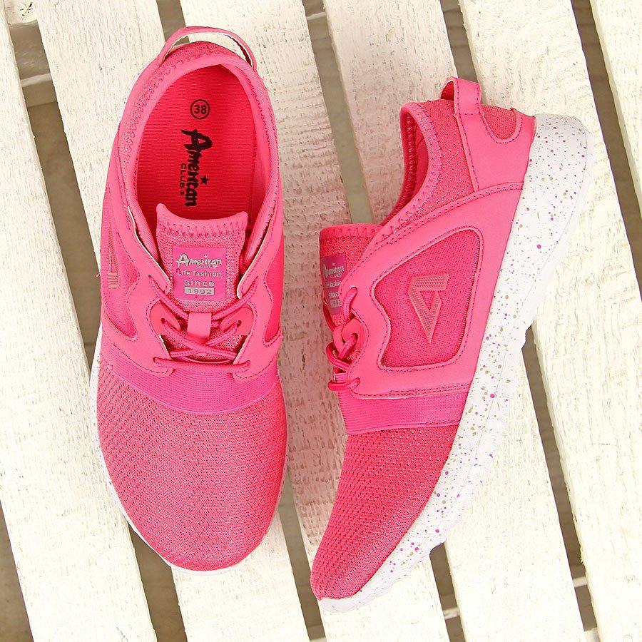 Różowe buty sportowe na fitness American Club