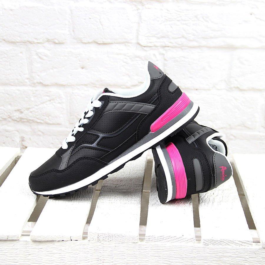 Buty sportowe damskie czarne American Club
