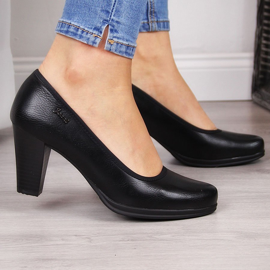 Женские туфли-лодочки на черной платформе Jezzi