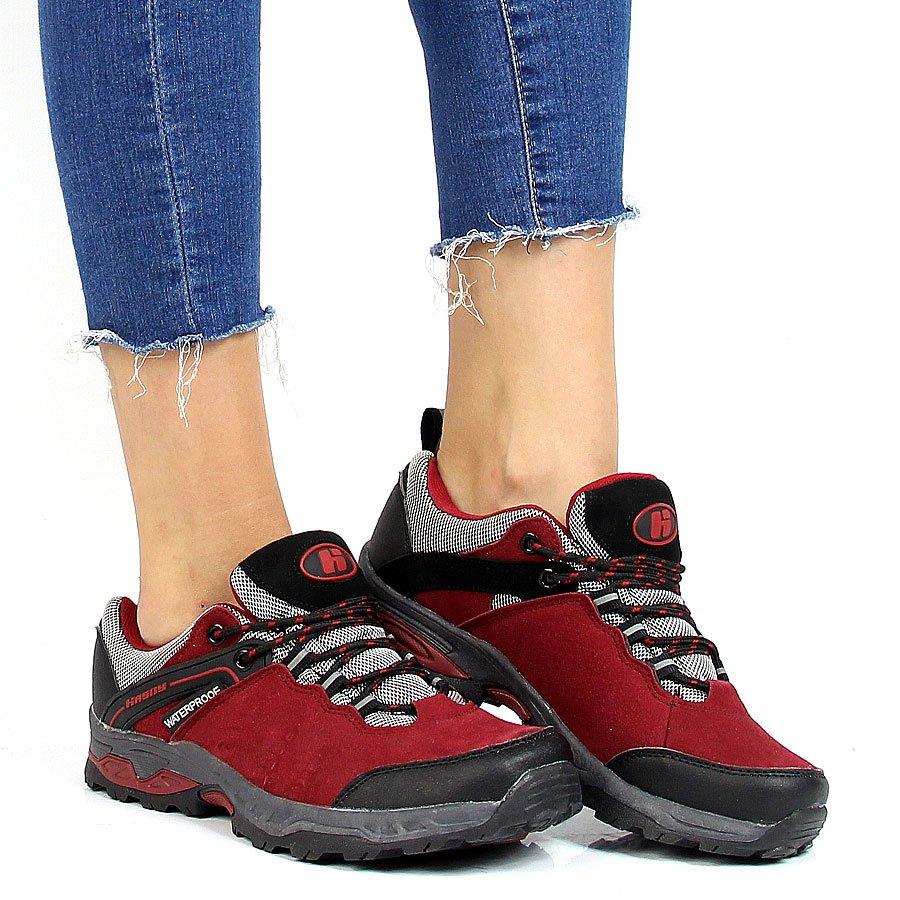 Buty trekkingowe z membraną czerwone Hasby