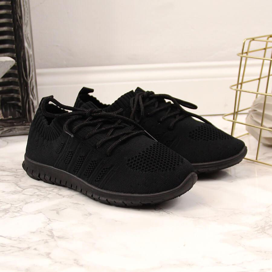 Buty sportowe dziecięce tekstylne czarne NEWS