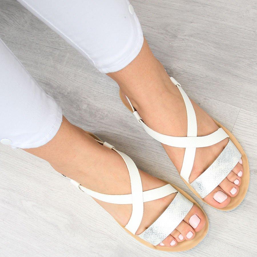 Sandały damskie białe Vinceza