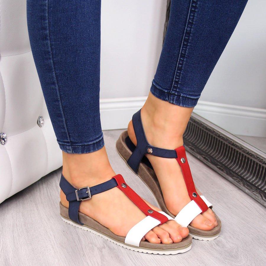 Sandały damskie na koturnie eVento