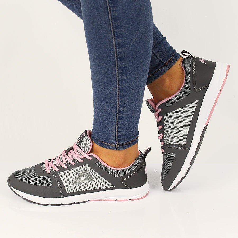 06c664a0 Szaro różowe buty sportowe lekkie fitness American Club