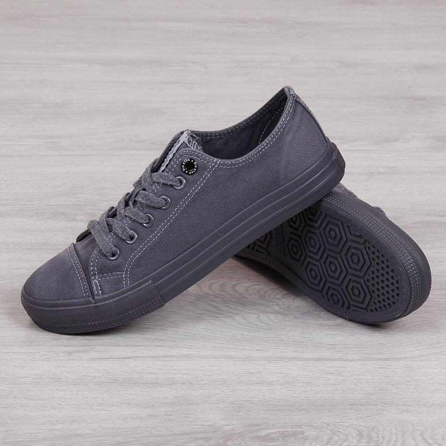 Trampki niskie męskie tekstylne czarne Big Star FF174335